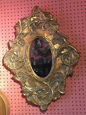 Vintage gold leaf gilt mirrorGold Ornate Oval Mirror We have a Pair if you like