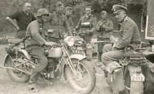 WW2 Photo WWII German Troops with Motorcycles World War Two Photo  / 2276