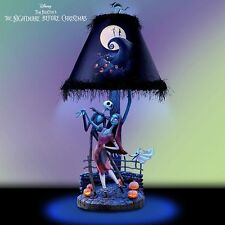 Bradford Exchange Disney The Nightmare Before Christmas Lamp NEW Jack Sally Zero