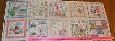 Classic Cottons *1930s HANKIES* Juvenile KIDS Vintage HANKY Panel Fabric Cotton