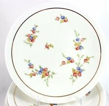 FULL SET 12 VINTAGE RAYNAUD LIMOGES CHINA COUPE DINNER PLATES GILT CREAM FLORAL