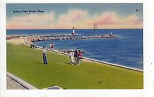 MARTHA'S VINEYARD Massachusetts PC Postcard MARTHAS Oak Bluffs JETTIES