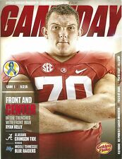 2015 Gameday Footall Program -Alabama vs Middle Tennessee