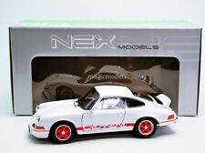 Welly 1973 POrsche 911 2.7 Carrera RS White with Red Stripe 1/18 Scale. New!
