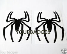 2 Spider Epoxy Sticker Set Black Car Sticker Decal badge Alfa Romeo