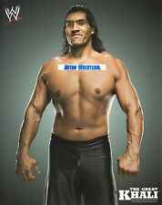 THE GREAT KHALI WWE PROMO PHOTO WRESTLING INDIAN STAR 8x10 PICTURE