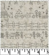 Lecien Mending Fences LEC 35045 10 BTY Cotton Fabric FREE US SHIPPING