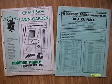 Original Vintage 1980 NPA Chain Saw Lawn Garden Parts & Price Booklets