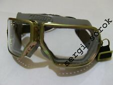 USSR AVIATOR ORIGINAL motorcycle rare protective glasses metal  goggles new
