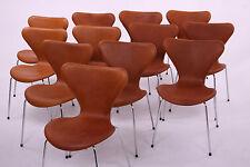 Véritable Arne Jacobsen 3107 chaise w / nouveau en noyer élégance en cuir-Rétro Danois