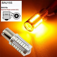 10Pcs 1156PY BAU15S PY21W LED Lens DRL Bulb 33SMD ReverseTail Turn Backup Amber