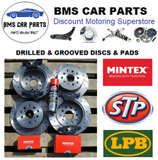 BMW E39 530D 530i 535i 540i Front & Rear Drilled & Grooved Brake Discs & Pads