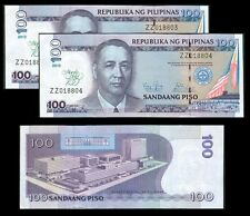 2013 100 Pesos MANILA HOTEL Overprint  2 Consecutive Nos. Philippine Banknote
