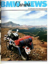 BMW Owners News magazine AUG 1990 Motorcycle