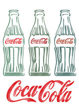 Letter Stencils Airbrush Painting Decorative Wall Art Home Deco Vintage Cocacola