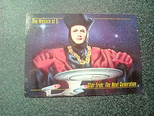 1993 Star Trek TNG Trading Card 49 - The Menace of Q