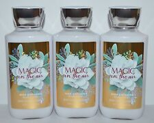 LOT OF 3 BATH & BODY WORKS MAGIC IN THE AIR LOTION CREAM SHEA BUTTER 8 OZ LARGE