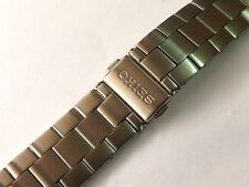 18MM SEIKO BRUSHED STAINLESS STEEL GENTS WATCH STRAP STRAIGHT END (WS-SE4)