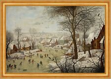 Winter Landscape with Bird-trap Pieter Brueghel der Jüngere Eis Stadt B A3 03123