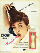 PUBLICITE ADVERTISING 016  1956  Dop Tonic Shampooing fortifiant