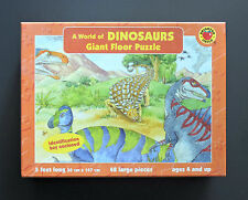 A WORLD OF DINOSAURS Giant Floor Puzzle Brighter Child 48 Large Pieces