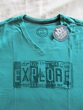 LIFE IS GOOD Explore License Plate Creamy SS TShirt Vee NWT Mens Size L Large