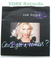 """SAM BROWN - Can I Get A Witness *POSTER SLEEVE* - Ex Con 7"""" Single A&M AM 509"""
