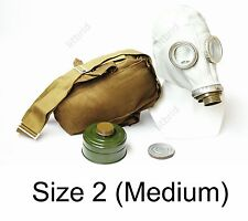 Russian military soviet Grey gas mask GP-5 with filter & bag. New 2 medium size