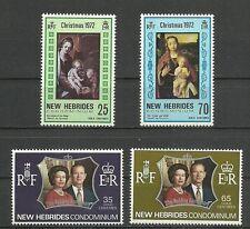1972   Franco-British Condominium    NEW  HEBRIDES  4 mint stamps** . (4074)