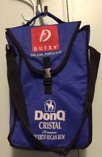 Don Q Cristal Premium Puerto Rican Rum Quijote San Juan Liquor Bottle Bag Blue