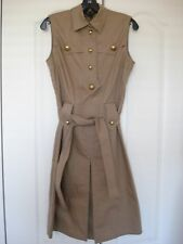 GUCCI Camel Beige Shirt Dress Size 42 New With Tag