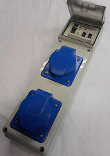 RCD 30ma SOCKET  INDUSTRIAL Gewiss 240v twin 32A 3 pin IP44 RCDS2132-44