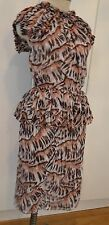 BOTTEGA VENETA SILK DRESS BROWN PRINT CHIFFON NEW 38 2 OR 0 $2980!!!