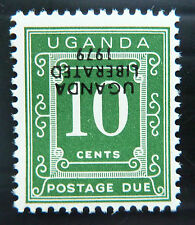 UGANDA 1979 10c P. Due Liberation Chalky Paper INV/OPT D2 NEW LOWER PRICE BN1119