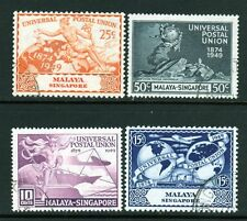 Singapore SC# 23-26 (SG# 33-36) Used(4) Stmp UPU 75th Anniv. Set Issued in 1949/