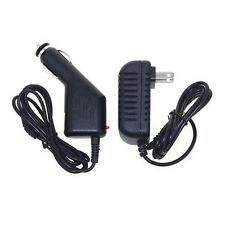 "DC Car Charger + Wall Power Adapter for Fuhu Nabi Nabi2-NV7A 7"" Anroid Tablet PC"