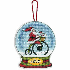 Cross Stitch Kit ~ Dimensions Santa Love Snow Globe Christmas Ornament #70-08903
