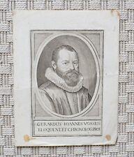 Gravure XVIIème - Portrait de Gérard Vossius - Pays-Bas