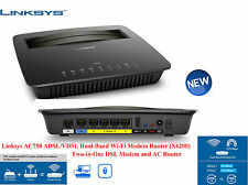Linksys X6200 AC750 Dual Band Wi-Fi VDSL / ADSL Modem Router 4-Gigabit Port UK