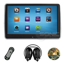 "UNIVERSALE Clip-on Car DVD/SD/USB 10.1"" HD POGGIATESTA MONITOR TOUCH-SCREEN Giochi IR"