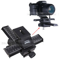 Universal 4-way Macro Focusing Rail Slider Tripod Head Support for Camera + Lens