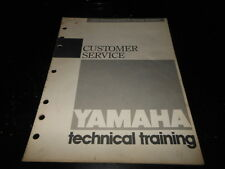 OEM Factory Yamaha 1989 Motorcycel ATV Customer Service Spring Seminar Manual