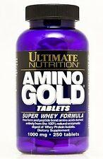 Ultimate Nutrition Amino Gold 250tabs / 1000mg Super Whey Formula / Free P&P