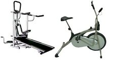 COSCO 4 in 1 MANUAL TREADMILL + COSCO EXERCISE CYCLE BIKE 610 COMBO OFFER