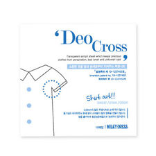 [MILKY DRESS] Deo Cross, 10pcs/ Armpit Sheet Keeps Clothes from Sweat Odor Stain
