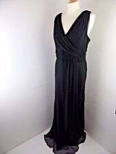 COAST grey green 100% silk dress Size 16 lined party wedding cruise cocktail