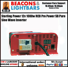 Sterling Power 12v 1000w RCD Pro Power SB Pure Sine Wave Inverter- SIBR121000