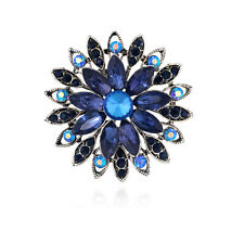 Hot Crystal Rhinestones Blue Glass Party Wedding Bridal Brooches Pins Jewellery