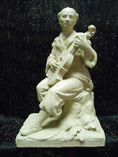 "VINTAGE 1975  CLAY SCULPTURE OF CHINESE MUSICIAN AUSTIN PROD. INC. 11"" tall"