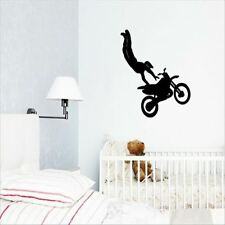 Huhome PVC Wall Stickers Wallpaper Acrobatic motorcycle racing silhouette everyw